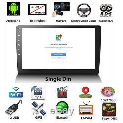 10.1inch Androïde 7.1 Navigation Simple Wifi Gps De Voiture Din Dans La Radio Stéréo Hd De Tiret