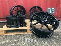 18 Alloy Wheels Spyder Black Fit Pour Ford Focus Mk2 Mk3 Inc St Brand New