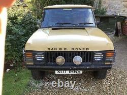 1978 Range Rover Suffix F Classique 2 Portes