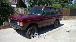 1983 Range Rover Tdi, Rouille Projet Libre, Tout Soudage, Toutes Les Pièces Pour Compléter