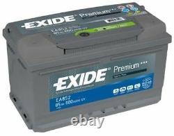 1x Exide Premium 85ah 800cca 12v Type 110 Batterie De Voiture 4 Ans Garantie Ea852