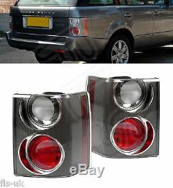 2 X Land Range Rover Vogue L322'02-'09 Feu Arrière De Feu Arrière Carbone Clair / Rouge