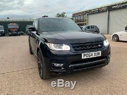 2014 Land Rover Range Rover Sport Hse Dynamique Sdv6 Noir Avec Cuir Rouge