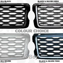 2018 Lifting Avant Look Grille Pour Range Rover Vogue L405 2013-17 Noir + Argent