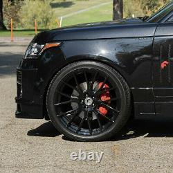 22 Forgiato Flow 001 Black Concave Wheels Rims Fit Land Rover Range Rover