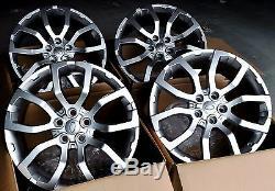 22x10 Roues Pour Range Rover Hse Lr3 Terre Lr4 Sport 22 Argent Jantes Jeu De (4)