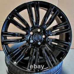 22x9.5 5x120 Roues Pour La Range Rover Sport Hse Terre Rover Lr3 Lr4 Set 4 Rims