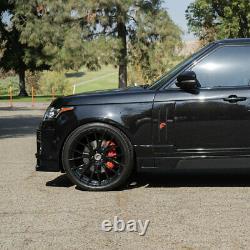 24 Forgiato Flow 001 Black Concave Roues Rims Fit Land Rover Range Rover