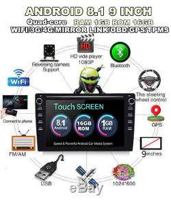 2din Android8.1 9 Car Stereo Radio Wifi 4g Bt Dab Mirrorlink Obd Contexte Gps