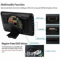 2pcs 10.1 '' Tft LCD Lecteur DVD Moniteur Voiture Appui-tête Arrière Siège Allume-cigare Usb