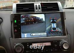 360 ° Dvr Dash Cam Transparente Oiseaux Vue Panoramique Système De Vision Nocturne Avec Ses 4 Caméra &