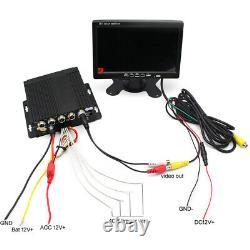 4ch Car Truck Dvr Enregistreur Vidéo +7 Hd Monitor+4 Matte Night Cameras Kit