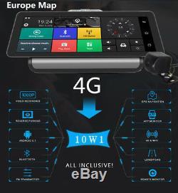 4g 10 '' Android 5.1 Wifi Full Écran Tactile Gps Adas Dvr Caméra Arrière Universel