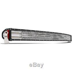 52inch Quad Row Led Light Bar Courbe Combo Faisceau Pour Offroad 4x4 Suv Câblage