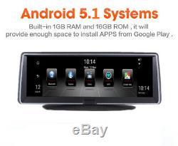 7,84 4g Android 5.1 Enregistreur Gps Nav Dvr Enregistreur Bt Wifi Fm Adas + Carte De L'ue