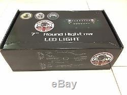 7 Pouces Avec Led Paire Land Rover Defender Dot Sae E Approuvé Chrome 734c