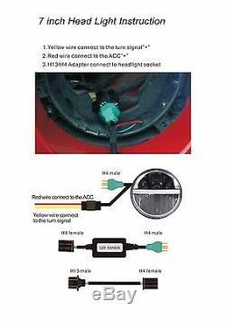 7 Pouces Led Phares Drl Lampe Frontale X2 E Approuvé Land Rover Defender 90 110 720