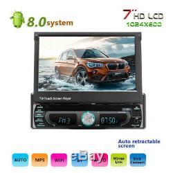 7 Voiture Gps DVD Unique Din Mp5 Lecteur Stéréo Bluetooth Wifi Radio Usb Android 8.0