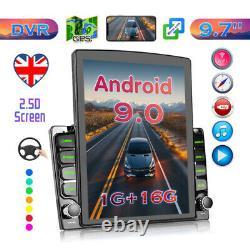 9.7 Inch Double 2 Din Car Stereo Radio Android 9 Gps Wifi Écran Tactile Fm Lecteur