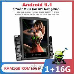 9.7en Voiture D'écran Vertical Bluetooth Lecteur Stéréo Radio Gps Wifi 3g/4g Obd Dab