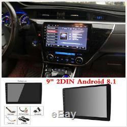 9 Double 2 Din Android 8.1 Car Stereo Radio Gps Sat Nav Wifi 3g 4g Obd2 Mlk Bt