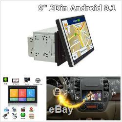 9 Double 2 Din Android 9.1 Autoradio Stéréo Dab Radio Gps Sat Nav Wifi Miroir Lien Bt