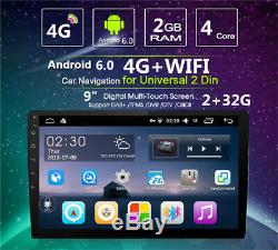 Android 6.0 9inch Double 2din Quad-core Car Stereo Radio Gps Wifi 4g Miroir Lien