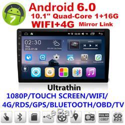 Android 6.1 De Lien De Miroir De Radio Stéréo De Voiture Stéréo De Voiture De Quad-core D'écran Tactile 2din