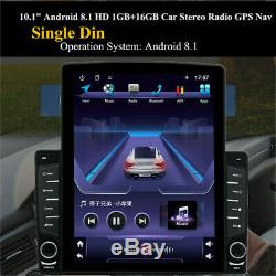 Android 8.1 1din 10.1in Car Stereo Radio Sat Nav Gps Wifi Mp5 Et Caméra Arrière