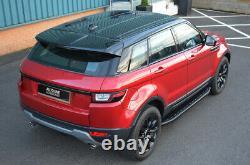 Barres De Marche Latérales En Aluminium Noir Pour S'adapter Range Rover Evoque (2011+)