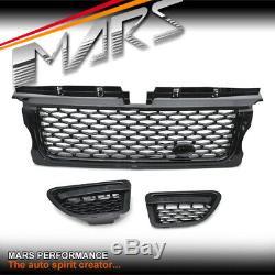Black Bar Bumper Grille & Side Pour Évents Land Rover Range Rover Sport L320 05-09