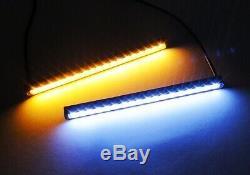 Blanc Ambre Switchback Slim Led Samsung Indicateur Latéral Éclairage Diurne Drl