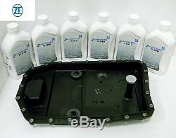 Bmw Audi Vw Jaguar Land Rover Transmission Pan + Liquide + Solénoïdes + Joints + Prise Zf