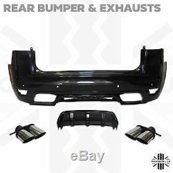 Body Kit Svr Style Pour Range Rover Sport L494 2013-17 Avant + Arrière Pare-chocs Noir