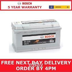 Bosch Car Batterie Royaume-uni Réf 019 12v 100ah Bosch Code S5013 5 Yr Gty Jour Suivant