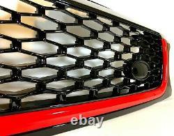 Calandre Noire Brillante Et Évents Latéraux Avec Garniture Rouge Pour Range Rover Sport 10 -13