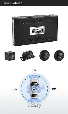 Car 360 ° Oiseau Hd Vue Panoramique Parking Système D'enregistrement Dvr Kit Caméra Rearview
