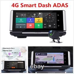 Consoles De Centre De Voiture Dvr 7 Android Fhd 4g Wifi Adas Enregistreur De Conduite Double Objectif
