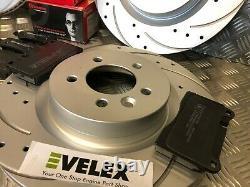 Disques Avant Et Arrière Avec Brembo Pads Forés Et Rainures Range Rover Sport 3.6td V8