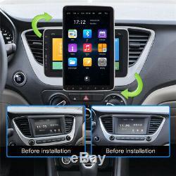 Écran Rotatif 9en 1din Android 9.0 Voiture Bluetooth Gps Stéréo Mp5 Radio