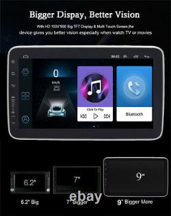 Écran Tactile 9 1din Quad-core Rotatable Android 8.1 Voiture Gps Wifi Bt Stereo Radio