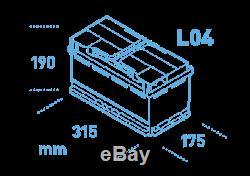 Ek800 4 Ans Garantie Exide Start Stop Agm-hybride Commerical Micro Batterie