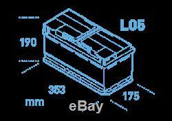 Ek950 Garantie 4 Ans Exide Start Stop Agm Batterie 95ah 850cca