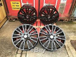 Fits Range Rover Sport 22 Sport Turbine Style Alliages Noir Brillant Jantes En Alliage