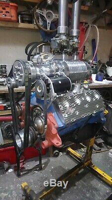 Flathead Kit De Supercharger À Tête Plate V8 Gué Du Ventilateur Du Moteur À Tête Plate