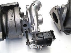 Gauche + Droite Turbocompresseur Land-rover Range Rover Tdv8 3,6 Turbo Reman
