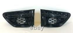 Gloss Black Front Grille & Side Vents Black Mesh Range Rover Sport L320 2010-13