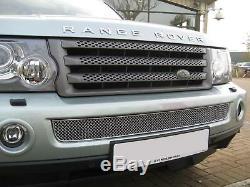 Grille Moustiquette De Style Bentley, Chrome, Pour Grille De Pare-chocs Avant Range Rover Sport