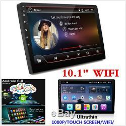 Hd 10.1 Double Din Android 6.0 Unité De Voiture Stéréo Gps 4g Wifi DVD Mirror Link