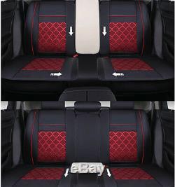 Housses Auto-respirantes Standard En Cuir Pu Et Tissu De Mess Pour Les Sièges Avant Et Arrière